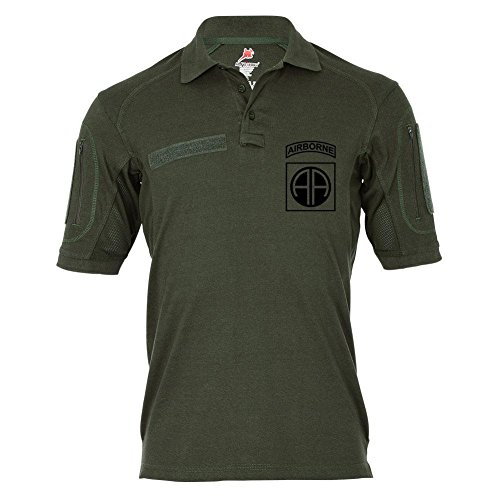 Tactical Poloshirt Alfa - 82nd Airborne Division US-Luftlandedivsion USA Guard of Honor Fallschirmjäger #19127, Größe:4XL, Farbe:Oliv (T-shirt Division 82nd Airborne)