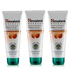 Himalaya Herbals Gentle Exfoliating Walnut Scrub, 100g (Pack of 3)