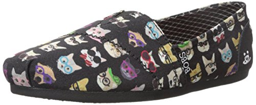 Bobs Da Skechers Bobs per i cani peluche Slip-On piano Black Kitty