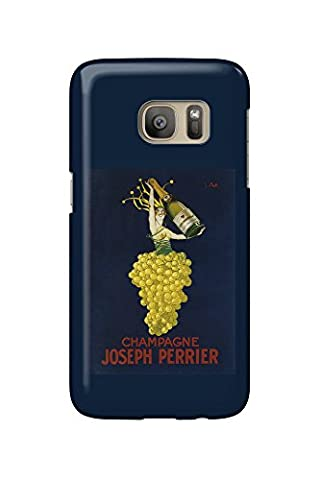 France - Joseph Perrier Champagne - Vintage Advertisement (Galaxy S7 Cell Phone Case, Slim Barely There)