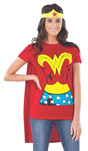 Rubie 's Offizielles Damen Wonder Woman T-Shirt-Set, ()