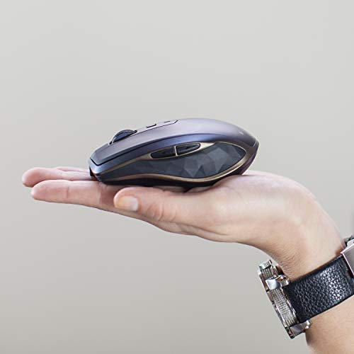Logitech MX Anywhere 2 AMZ Wireless Bluetooth Mouse for Windows and Mac, Black Img 1 Zoom