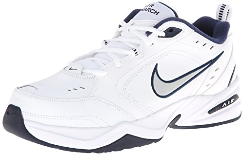 Nike air monarch iv, scarpe da fitness uomo, bianco (white/metallic silver 102), 41 eu