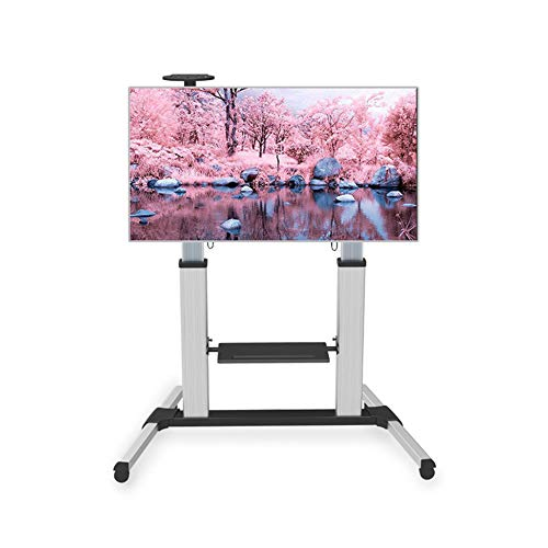 Beweglicher TV-Stand Cart, LCD-LED-Plasma Flat Panel Stand Mount Adjustable Height Lockable Wheels Mobile Fits 52