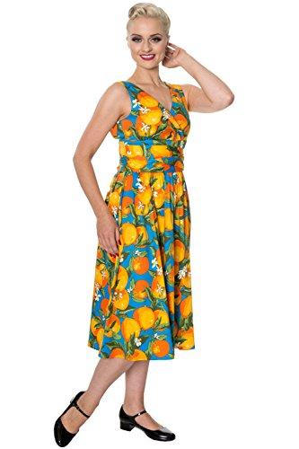 Banned Apparel -  Vestito  - plissettato - Donna Orange