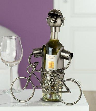 Flaschenhalter Fahrradfahrer Fahrrad Weinflaschenhalter Wein Weinständer
