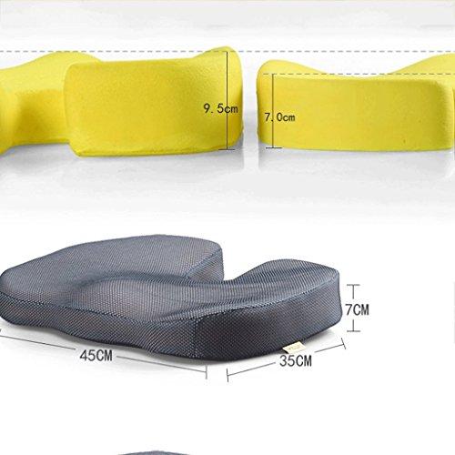 Cushion Mesh Cushion Bürostuhl/Autositz / Rollstuhl/Hämorrhoiden / Prostata/Schwangere Frauen/Memory-Baumwolle Kissen A+ (Farbe : 2#, größe : Slow Rebound)