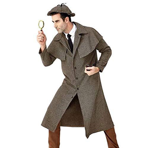 QWE Halloween Kostüm Film Charakter Big Detective Cosplay British Plaid Hohe - Sherlock Holmes Kostüm Einfach