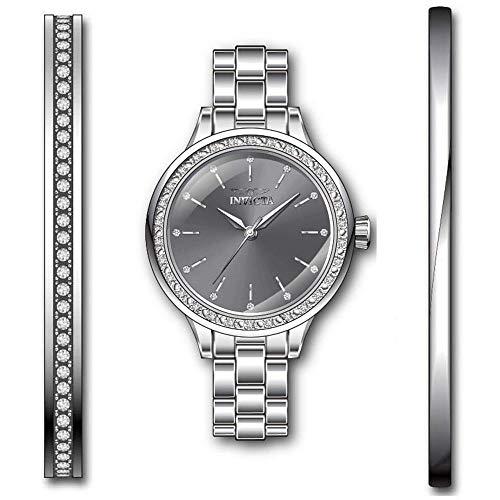 Invicta Angel Reloj de Mujer Cuarzo Correa y Caja de Acero dial Gris 29309