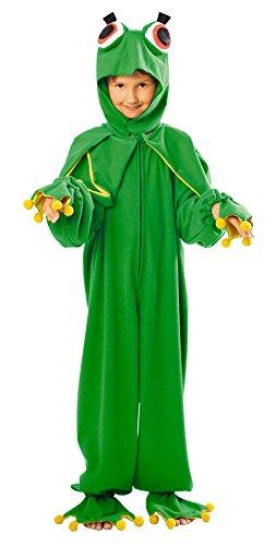 Schickes Frosch Kostüm für Kinder - komplettes hochwertiges Frosch Kostüm Kind von Größe 98 bis 140 - Frosch Kostüm für Jungen und Mädchen Fasching Karneval - Mädchen Frosch Kostüm