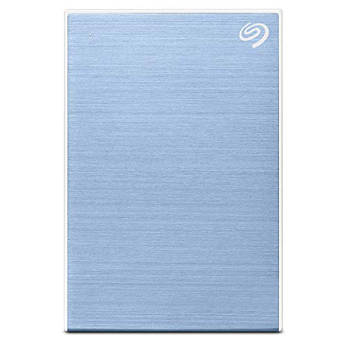 Seagate 4TB Backup Plus Portable External Hard Drive with Free 2 Month Adobe CC Photography Plan - Light Blue (2019 Edition)
