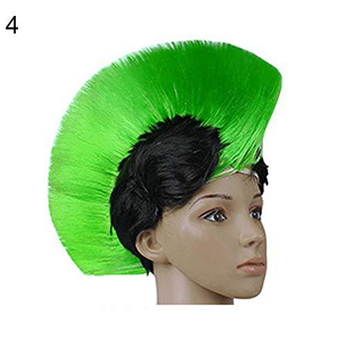 -Perücke, modisch, mehrfarbig, lustig, Mohawk Mohikanischer Stil, Fake Hair Hair Hallowmas Masquerade Haarteil Dekoration ()
