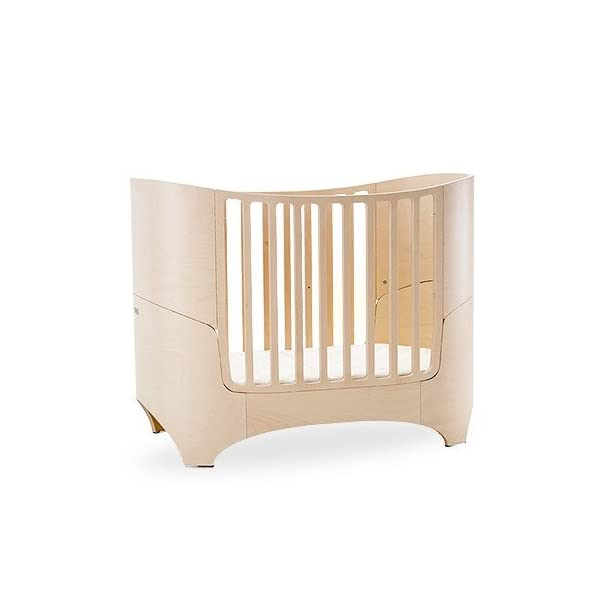 "Leander bed, beech white wash  'White Glaze ""White Wash = with visible wood grain Can be used from babies first day to school age Including all mattress and slatted frame parts 6"