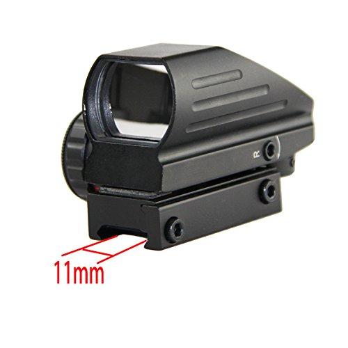 Jagdoptik 1x22x33 Compact Reflex Rot Grün Punktvisier Zielfernrohr 4 Zielfernrohrvisier mit Weber 11mm