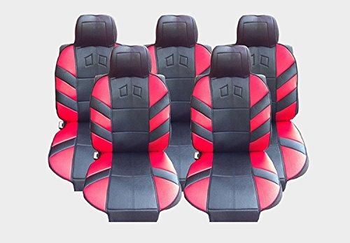 5x Sitze Autositzauflage Auflage Autositz Rot Sitzschutz