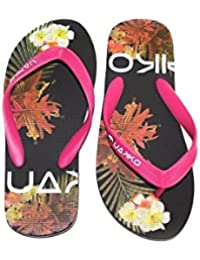 UAKKO Flip Flops Women Aloha Black