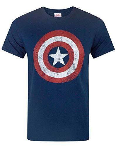 Celebrar el centinela de la libertad con esta pieza de mercancía oficial de Marvel. Este Capitán América camiseta oficial viene con la marca oficialmente con las etiquetas de cuello y etiquetas colgantes para probar su autenticidad.