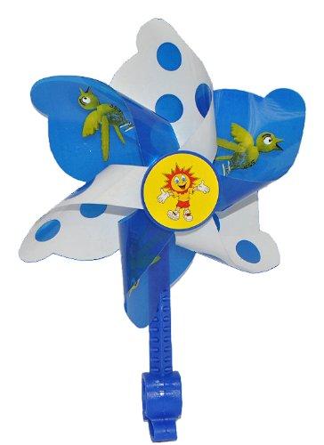 alles-meine.de GmbH Fahrradwindmühle für Kinder -  blau  - passend auch für Roller, Dreirad, Laufrad - Fahrrad Windrad Windmühle Deko Zubehör - Mädchen & Jungen - Kinderfahrrad.. -