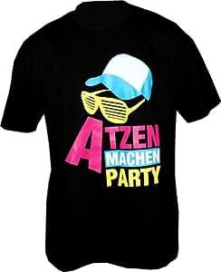Atzen machen Party Design2 T-Shirt Schwarz Gr.L