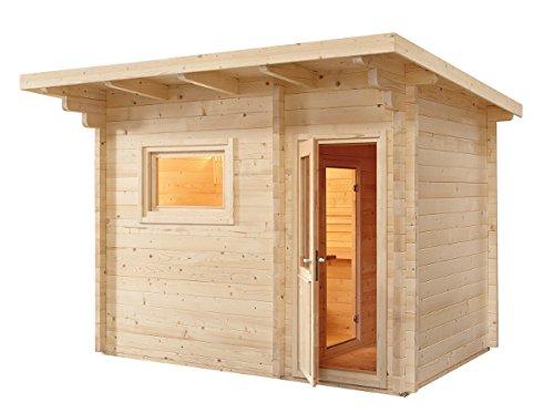 Finnische Sauna Norwegen für 6Personen Außenbeleuchtung mit Umkleidekabine