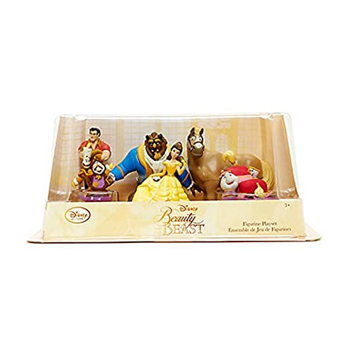 Disney Store Beauty and the Beast Figure Play Set ~ 6 piece by Disney