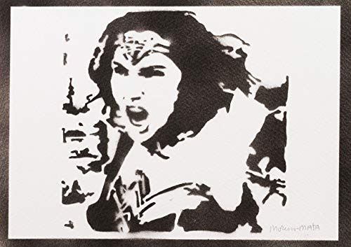 Wonder Woman Justice League Poster Plakat Handmade Graffiti Street Art - Artwork (Wonder Woman Kostüm Bilder)