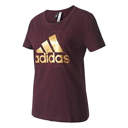 adidas Foil Logo T-shirt für Damen, Rot (Granat), M (Shirt Granat Damen)