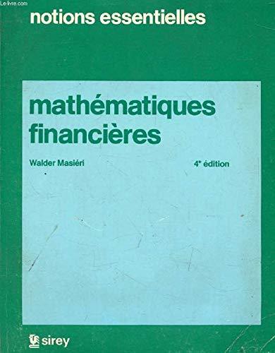 Mathématiques financières (Notions essentielles)