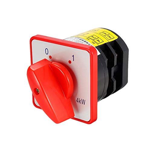 ZCHXD Changeover Switch HZ5-20/4 L02 2 Position Rotary Selector Cam Switch Panel Mount 6 Terminals Latching Ui 550V Ith 20A -