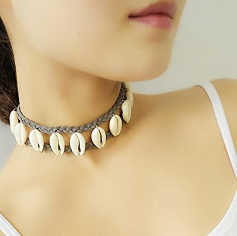Familizo Women Shell Pendant Handmade Necklace Choker Chains Charm
