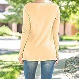 AmazingDays Damen Oberteile Langarm Tops Pullover Elegant UnregelmäßIge Sweatshirts Casual Locker Bluse Rollkragen Pulli (Kaffee, S) Vergleich