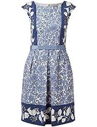 Weekend Max Mara Kleid mit floralem Muster Kleid Blau a8514d8020