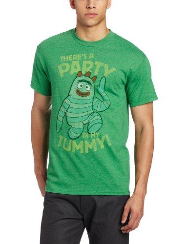 Nickelodeon Herren T-Shirt Yo Gabba Gabba - Grün - X-Groß (Gabba Gabba Yo Dj)
