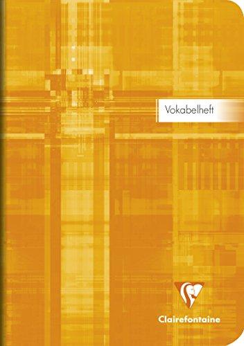Clairefontaine 36879C Vokabelheft (DIN A5, 14,8 x 21 cm, liniert, mit Mittelstriche, 32 Blatt) 1 Stück farbig sortiert