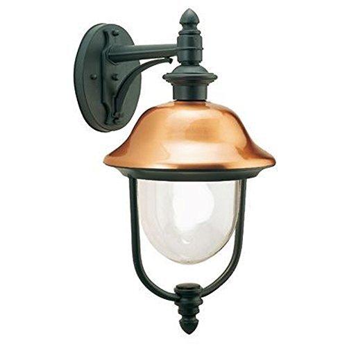 Applique in basso classica lampada da parete per esterno grigio-rame