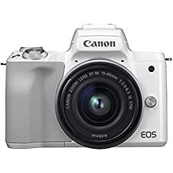 Canon EOS M50 Appareil Photo Hybride + EF-M 15-45 mm F/3.5-6.3 STM - Blanc