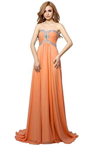 Victory Bridal - Robe - Trapèze - Femme Orange