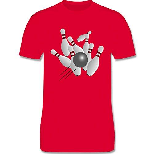 Bowling & Kegeln - Kegeln alle 9 Kegeln Kugel - Herren Premium T-Shirt Rot