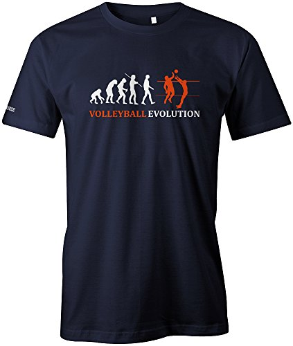 VOLLEYBALL EVOLUTION - HERREN - T-SHIRT in Navy by Jayess Gr. L