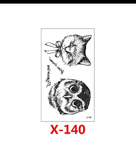 LFVGUIOP Kreative Tierkopf niedlich Kunst temporäre Tätowierung Aufkleber abnehmbare wasserdichte Körper Arm Brust Schulter geeignet für Mädchen PCS 3