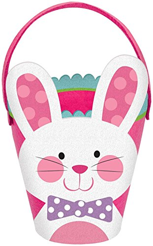 amscan Pink Filz Bunny Korb (Disco Bunny Kostüm)