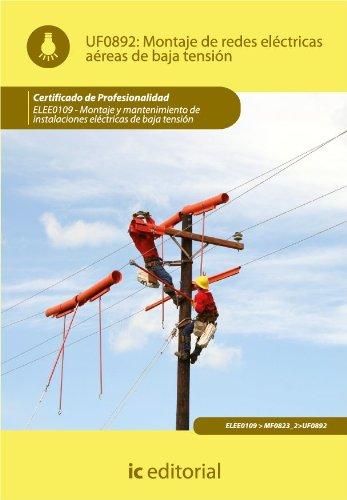 Montaje de redes eléctricas aéreas de baja tensión. ELEE0109
