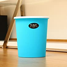 Bidoni di plastica della caramella di modo colorati creativo pattumiere soggiorno bidoni Non ci sono copertine Cucina Bagno ( colore : Blu