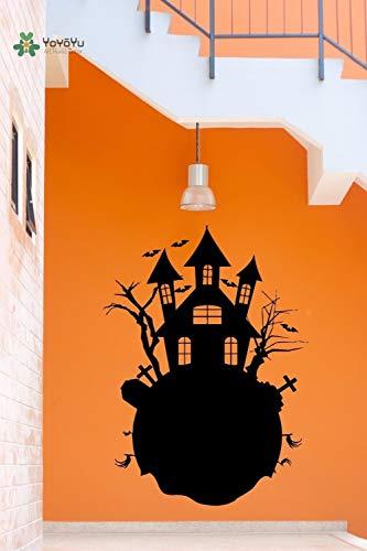 Vinyl Wandtattoo Evil Soul Castle Halloween Lustige Festival Junge Schlafzimmer Wohnzimmer Dekoration Aufkleber 42x57 cm - Soul Köln Für Männer