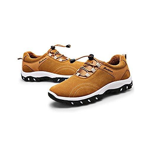Chnhira, scarpe da ginnastica da uomo traspiranti, scarpe da ginnastica morbide per arrampicata, trekking e sport Yellow