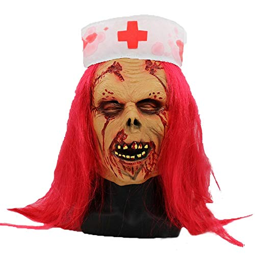 QFQ Horror rothaarige Ärztin Maske Halloween Kostüm Party Cosplay Masken, Einheitsgrösse (Kostüm Für Rothaarige)