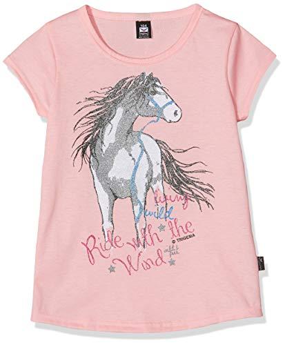 Trigema Mädchen 236248119 T-Shirt, Rosa (Rosé 132), (Herstellergröße: 140) -