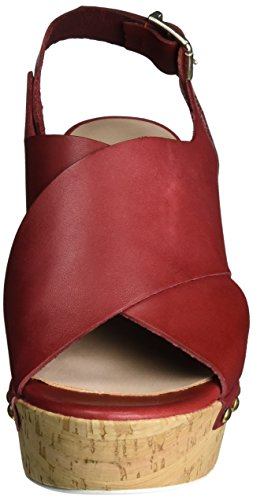 MANAS Damen Versilia Sandalen Rot (Rosso)