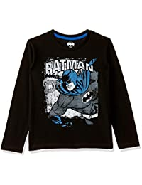 Batman Boys' Plain Regular Fit Cotton Long Sleeve Top