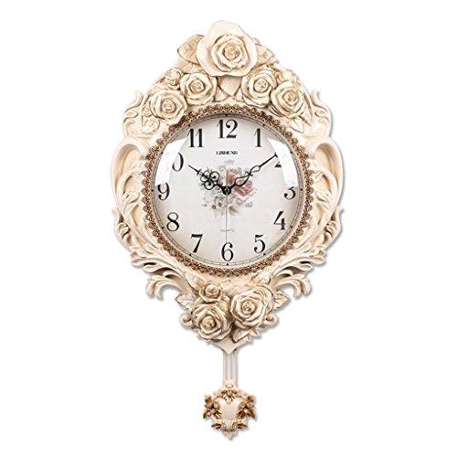 Bonne action Horloge murale Rétro Horloge Murale De Style Européen Salon Horloge Murale Quiet Jane Européenne Horloge Murale Antique Restaurant Pendule Horloge Chambre Horloge ( Couleur : B )